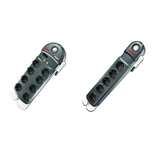 APC Surge Protector - Steckdosenleiste mit Überspannungsschutz - 8-Fach Stecker Schuko, schaltbar, anthrazit & kdosenleiste mit Überspannungsschutz - 5-Fach Stecker Schuko, schaltbar, anthrazit