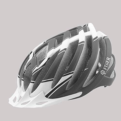 Profesional helmte moto, Adulto carretera de montaña a caballo casco de bicicleta cabeza de protección, deportes al aire libre en monopatín casco de ciclista con parasol, ajustador, forro desmontable