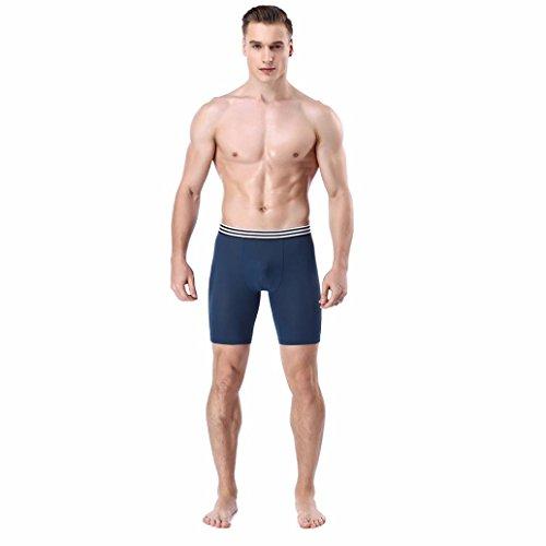 Slip Hommes, YanHoo® Trunks Sexy Underwear Hommes Boxer Slips Confortable Shorts Bulge Pouch Modal Slips Vêtements de nuit Bodywear Lingerie (XL, Bleu)