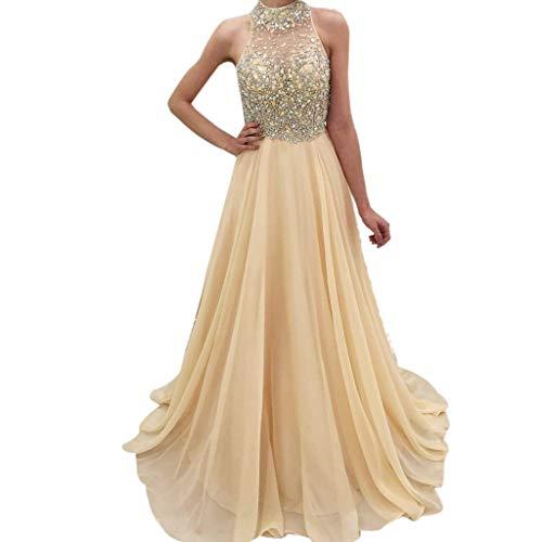 Longra Damen Elegant Pailletten Abendkleid Abschlusskleider Brautjungferkleid Hochzeitkleid...