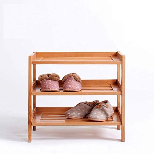 Estante de zapatos Zapatero zapato de madera en rack de 3 niveles de almacenamiento del gabinete Estante de Brown grande de los muebles de pasillo del gabinete gabinetes de almacenamiento, Estante