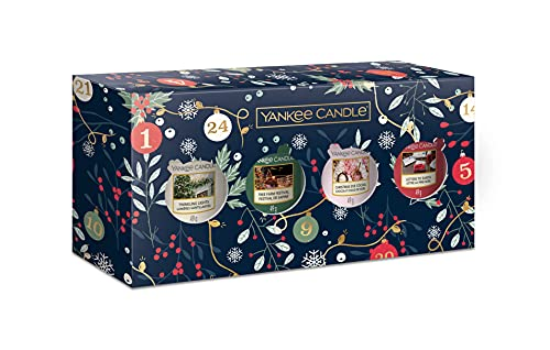 YANKEE CANDLE confezione regalo, Candele profumate natalizie, 3 Candele Votive profumate, Collezione Countdown to Christmas