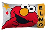Jay Franco Sesame Street Hip Elmo 1 Pack Pillowcase - Double-Sided Kids Super Soft Bedding (Official Sesame Street Product)