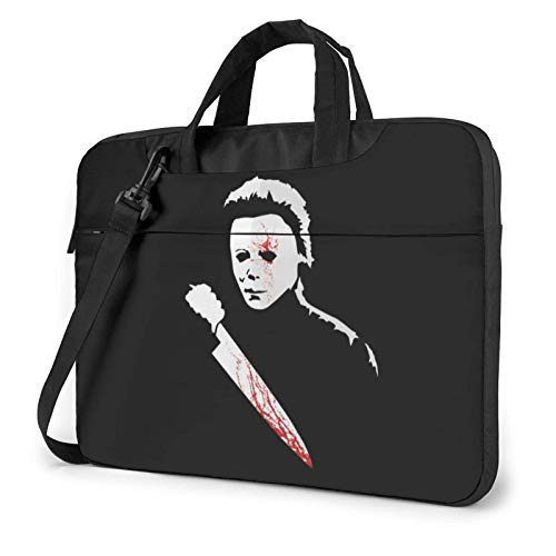 shenguang Horror Knife Blood Killer Laptop Shoulder Messenger Bag Case Sleeve for (13 Inch 14 Inch 15.6 Inch) Durable and Lightweight Portable Laptop or Ipad Tablet Case Laptop Briefcase 14 inch