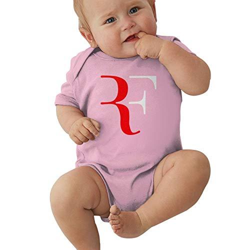 Pijama unisex para bebés y niñas, mono con logotipo Roger-Federer, para niños de 0 a 2 t, rosa, 18 Meses