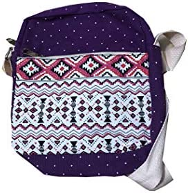 Canvas Purses Set Stripe Tween Crossbody Purse and Shoulder Messenger Bags for Teen Girls IBA9 product image