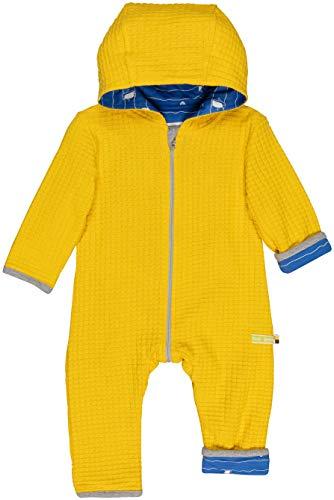 loud + proud Baby-Unisex Wendeoverall Strick Aus Bio Baumwolle, GOTS Zertifiziert Strampler, Gelb (Honey Hon), 80 (Herstellergröße: 74/80)