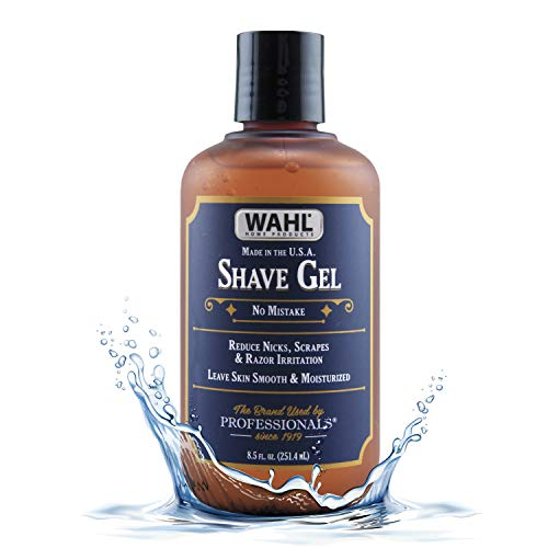 Wahl Shave Gel for a Clean, Close, Comfortable Shave. Easy to See Edging with the Clear Gel, Easily Clean the Razor and Soften Beard and Skin - 24 Oz – Model 805609A