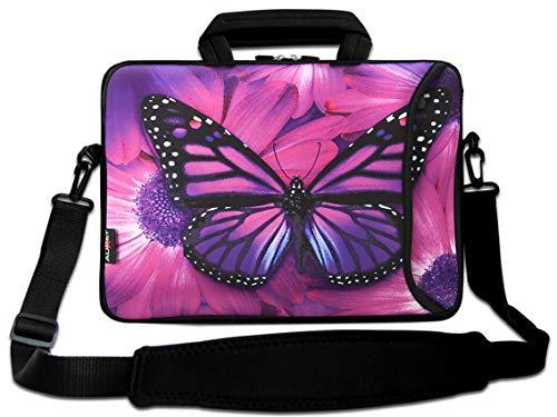 """AUPET 9"""" Shoulder Bag with Extra Side Pocket,Adjustable Strap For 9-10.6"""" Laptop"""