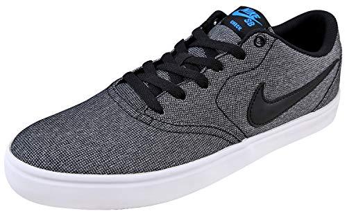 Nike Men's SB Check Solarsoft Canvas Skate Shoe (9 D(M) US, Grey/Black/Photo Blue/Black)