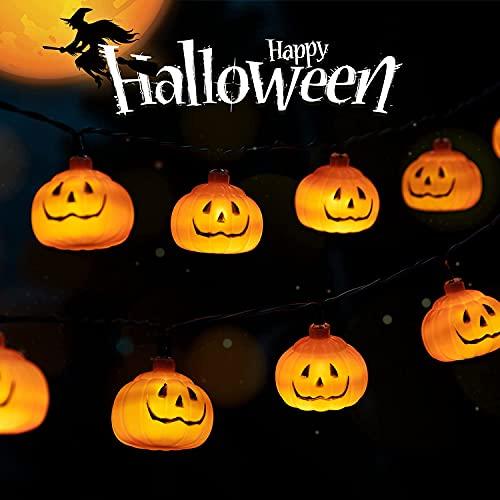 Zucca di Luci Stringa, Foneso 3M Halloween 20 LEDs Lanterna Zucca Stringa, Smiley Zucca Lanterna String Luci di Halloween, Festival Delle Decoration del Partito Famiglia
