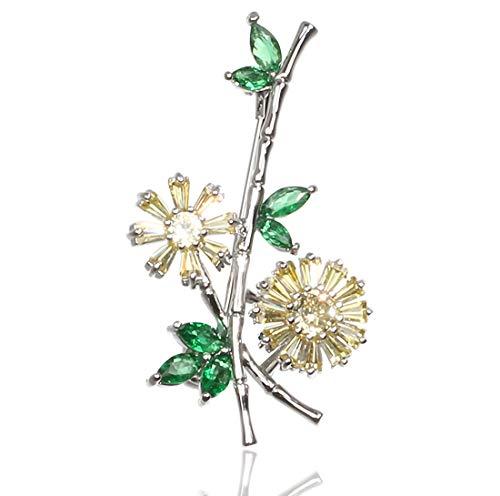 Nice 'Wohnhalle Europäische und amerikanische Weihnachtssträuße mit Diamanten dreidimensionale Brosche Retro-Legierung Pflanze blüht Weihnachtstag Geschenk Kragen Stift einfach Schmuck