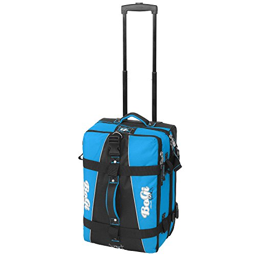 BoGi travel bag with skater wheels, trolley bag blue 40