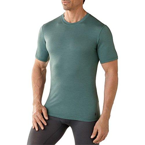 Smartwool T-Shirt M NTS 150 T-Shirt Fonctionnel pour Hommes Tee Sea Pine XXL Bleu