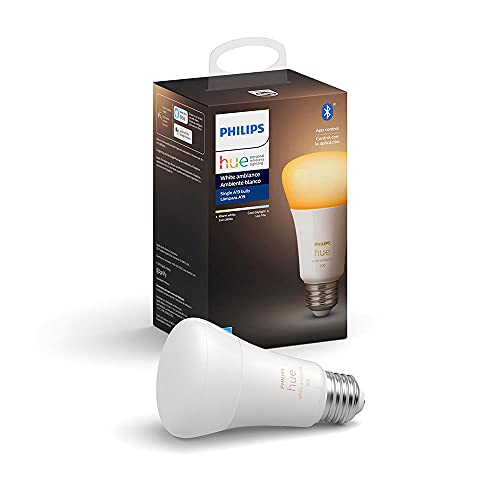 Philips Hue 548495 CFH A19 Smart Light Bulb, 1, White Ambiance (Warm-White to Cool-White)
