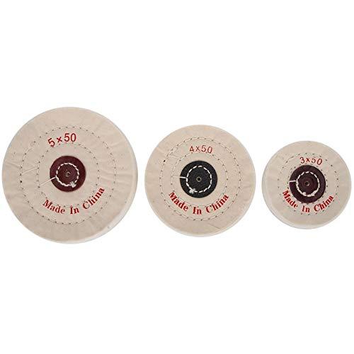 frenma Stoff Allround Polieren Polieren Polieren Rad, Polieren Rad, 3Pcs 3 Größen Stoff Polieren Rad Polieren für Tischschleifen
