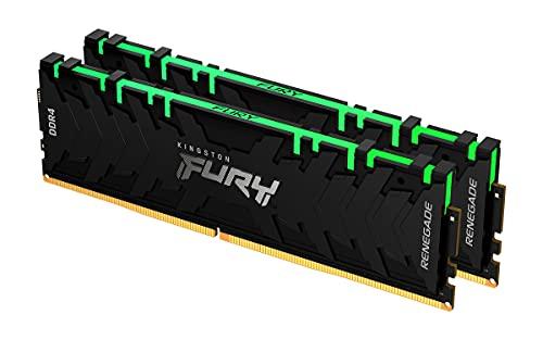 Kingston FURY Renegade RGB 16GB (2x8GB) 3000MHz DDR4 CL15 Memoria Gaming Kit per Computer Fissi Kit da 2, KF430C15RBAK2/16
