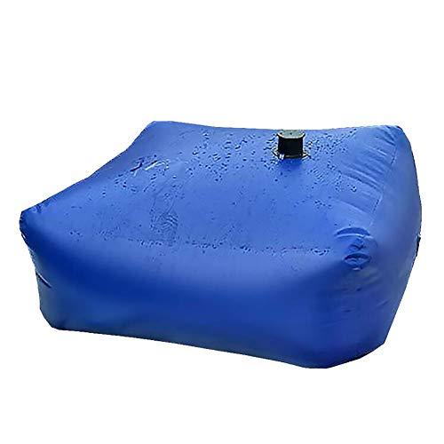 DunShan Tragbarer Wasserbehälter Große Kapazität Ölfass Regenfass Faltbar Sport Camping Picknick Landwirtschaft Garten Bewässerung Sicherheitsblau
