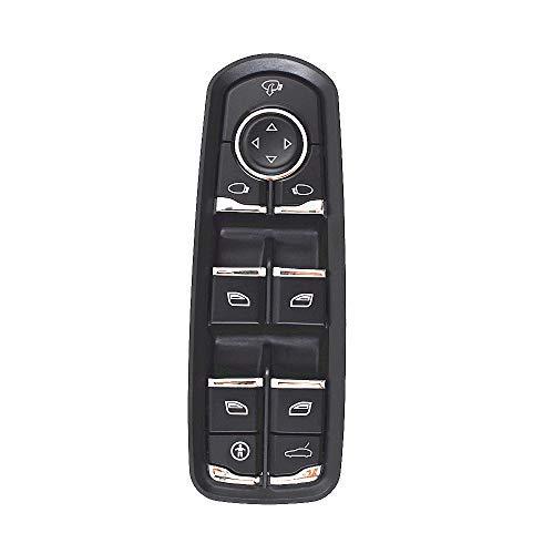 Labwork - Interruptor de ventana para puerta delantera para Porsche Cayenne 2011-2014 / Porsche Panamera 2010-2015 7PP959858MDML