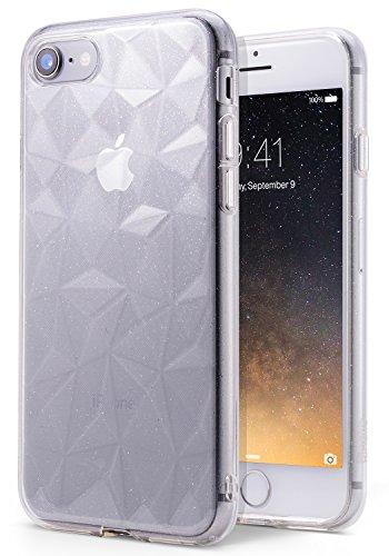Ringke Cover Compatibile con iPhone SE (2020), iPhone 8, iPhone 7 [Air Prism Glitter] Piramide Bella Elegante Fantasia a Diamante Flessibile Trama Protettiva Custodia Cover - Luccichio Chiaro