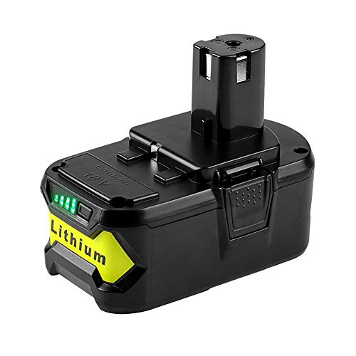Aoile Drill Battery Set, Rechargeable Battery for Li-ion Ryobi 18V /P103 /P108 Power Tool 4.0ah