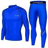1Bests - Juego de 2 piezas de entrenamiento, camuflaje, para correr, con mallas, para hombre, secado rápido, KBOO-Deep Blue, large
