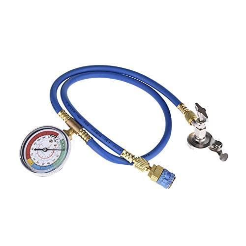 Iinger Herramienta de reparación de Aire Acondicionado de automóviles BOT Acondicionador de Aire Acondicionador de fluoruro con Conector refrigerante Presione en frío (Color : Blue)