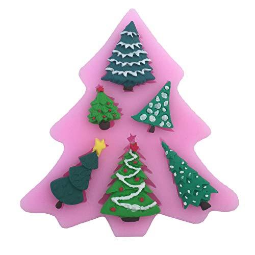 Xinllm Weihnachten Silikonform Form Weihnachten Holiday Christmas Schimmel Wiederverwendbare Weihnachtsform 3D Weihnachtsform Schöne Weihnachtsform 1