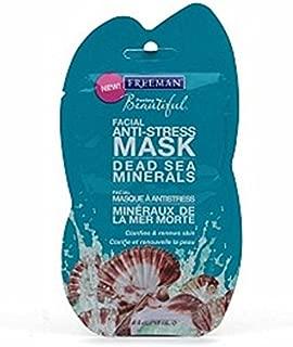 Freeman Feeling Beautiful Facial Anti-Stress Mask Dead Sea Minerals 0.50 oz (Pack of 2)
