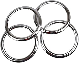 Jicorzo - ABS Chrome Car Door Stereo Speaker Collar Cover Trim Bezel Fit For 2007-2015 Patriot Compass Car Interior Accessories Styling
