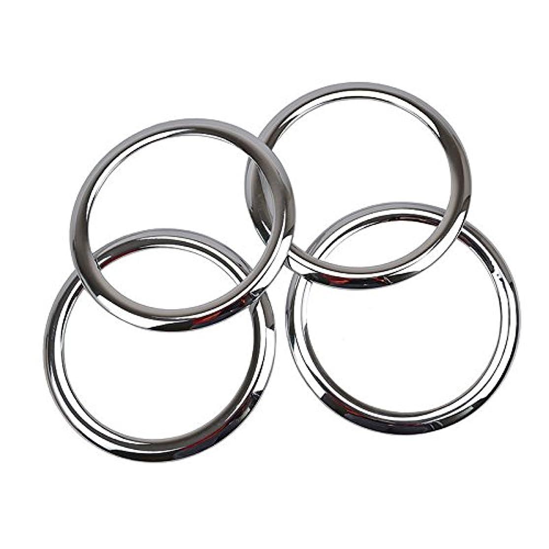 相互接続シンボルクリケットJicorzo - ABS Chrome Car Door Stereo Speaker Collar Cover Trim Bezel Fit For 2007-2015 Patriot Compass Car Interior Accessories Styling