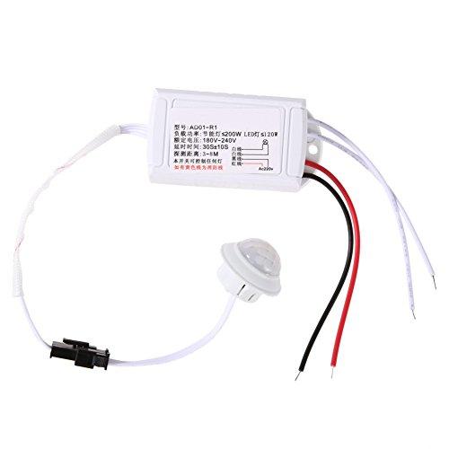 Demiawaking Modulo Sensore Corpo IR a Infrarossi Sensore di Movimento Interruttore Intelligente 220V