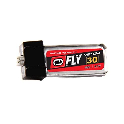 Venom Fly 30C 1S 30mAh 3.7V LiPo Battery with E-flite MCX Plug - Compare to E-flite EFLB1501S25