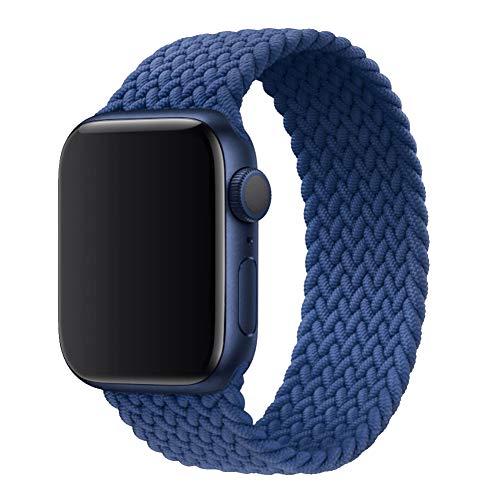 Scrunchie - Correa elástica de repuesto para reloj Apple Watch de 38 mm, 40 mm, 42 mm, 44 mm, transpirable y elástica, compatible con iWatch Series1-5 (42 mm/44 mm, azul)