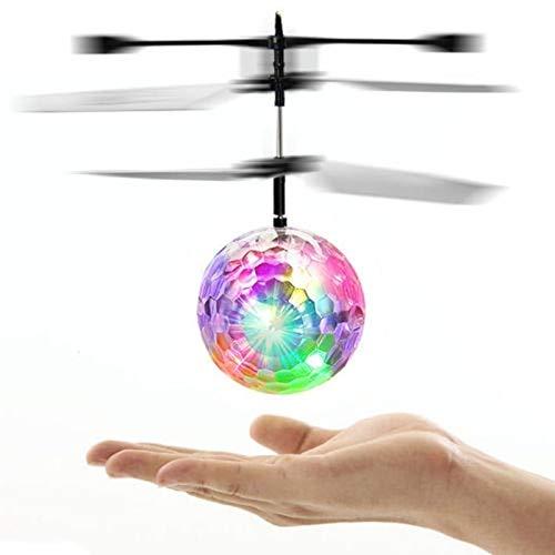 Sysow Kinder Flying Ball, RC Fliegender Ball, Handsensor UFO Spielzeug, Infrarot-Induktions-Hubschrauber, Drohne mit bunt leuchtendem LED-Licht und Fernbedienung, Indoor-und Outdoor-Spiele