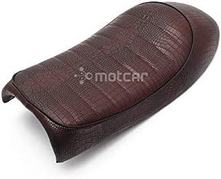 1x Motorcycle Leather Vintage Retro Hump Saddle Seat For Honda CB CL Retro Cafe Racer CG125 CB200 CB350 CB400 CB500 CB750 SR400 (Brown)