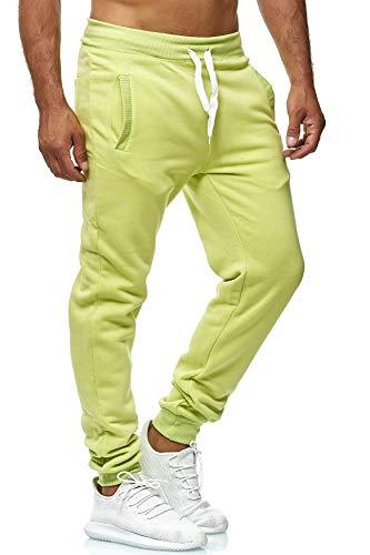 EGOMAXX Herren Jogging Hose Fit & Home Sweat Pants leichte Sporthose Vers.1, Farben:Hellgrün, Größe Hosen:M