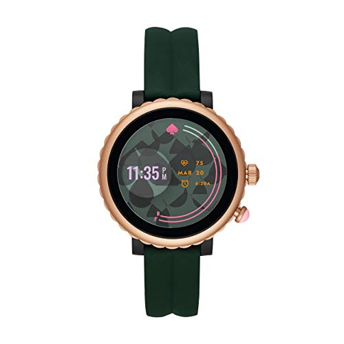 Kate Spade New York Women's Gen 4 Scallop Sport HR Heart Rate Silicone Touchscreen Smart Watch, Color: Green...