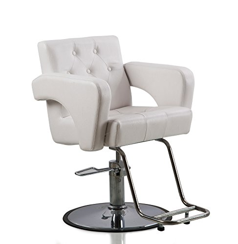 Shengyu White Hydraulic Styling Barber Chair Hair Spa Beauty Salon Equipment