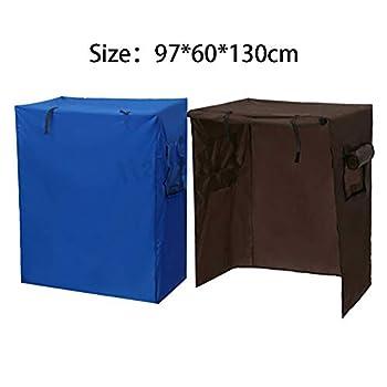 Housse pour cage à oiseaux pour animaux domestiques - Grande taille - Bleu, marron (97 x 60 x 130 cm)