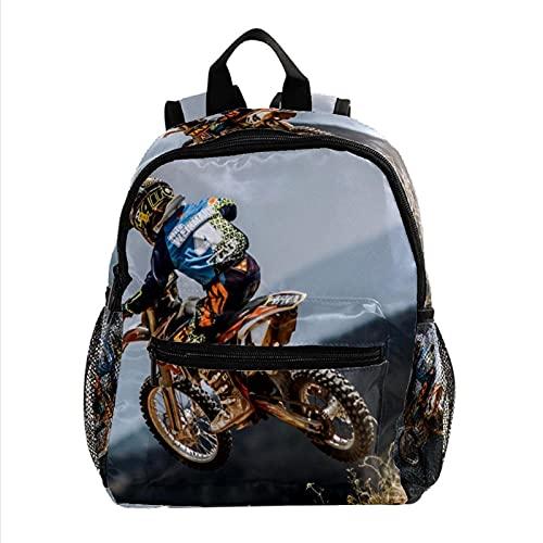 Mochila bebé Motocicleta (10) Mochila Infantil Pequeña Bolso para Niños Niñas 3-8 Años Escuela Guarderia Viaje Bolsa Escolar 25.4x10x30 CM