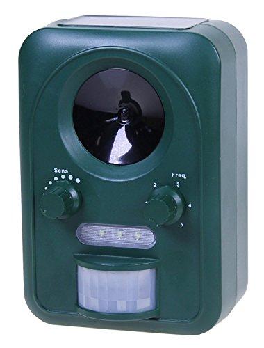 Universel Répulsif pour animaux à ultrasons solaire avec flash CE qui va automatiquement Los fr pas de Visite Plus dans le jardin