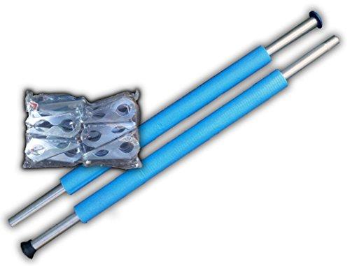 1 x Stange / 2 x Stangen / 3x Stangen Trampolin Stangen 233 cm für Sicherheitsnetz (3 x Stangen Set)