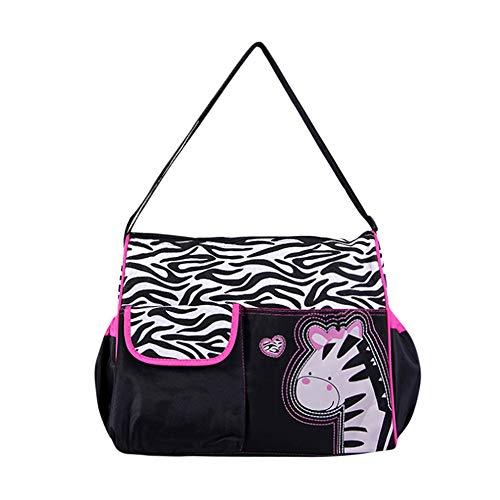 iHENGH Bag Women Printing Zipper Zero Wallet Phone Key Bags 2019 nuovo Borsa Donna Moda Casual Cavans Wallet Tela Borsette Carino Work Shopping Nero Rossa