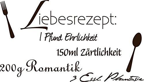 GRAZDesign Wand-Dekoration Liebesrezept & Liebe - Wanddeko Wandspruch Liebessprüche - Wandtattoo Schlafzimmer Liebes Lounge / 100x57cm / 720135_57_080