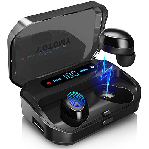 True Wireless Earbuds, VOTOMY Bluetooth 5.0 Earbuds with 200H Cycle Playtime 5D TWS Stereo, Mono/Share Mode in-Ear Wireless Earphones 3500mAh Charging Case with LED Battery Display for Work and Gym