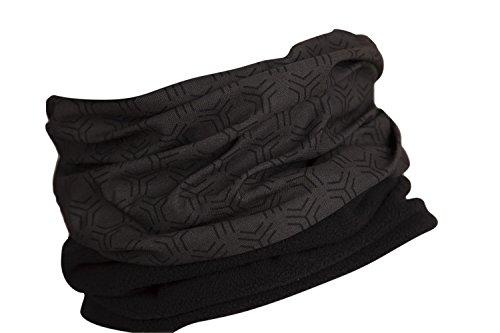 Hilltop Polar Halstuch, Multifunktionstuch, Kopftuch, Schlauchschal, Schal mit Fleece, Cooles Design in Trendfarben, für Damen und Herren, Farbe:Grey