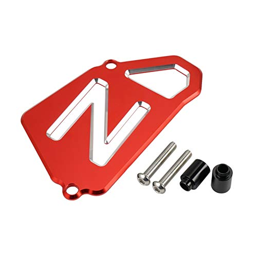 XIUFANG ATV Ritzelabdeckung Fall Saver Kettenschutz gepasst for Yamaha Raptor 700 700R YFM700R YFM700 CNC Alu-Kettenschutz Zubehör (Color : Red)
