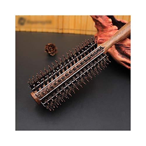 Nouveau noyer noir peigne en bois Poignée de roulement Brosse, anti-statique bouclés Peigne Cisailles et ciseaux (Size : M)
