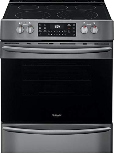 Frigidaire Gallery 30'' Black Stainless Steel Front Control Electric Range with Air Fry
